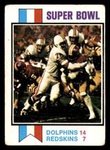 1973 Topps #139 Super Bowl VII G-VG