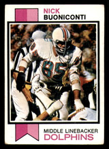 1973 Topps #214 Nick Buoniconti Excellent