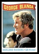 1975 Topps #7 George Blanda Black Jersey Near Mint  ID: 301498