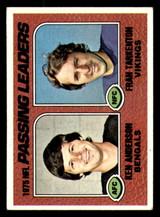 1976 Topps #201 Ken Anderson/Fran Tarkenton 1975 Passing Leaders Excellent