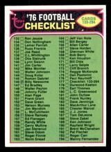 1976 Topps #177 Checklist 133-264 Marked