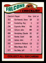 1977 Topps #201 Atlanta Falcons UER CL Ex-Mint