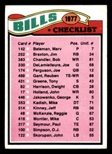1977 Topps #203 Buffalo Bills CL Very Good