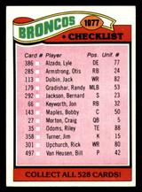 1977 Topps #208 Denver Broncos CL Ex-Mint
