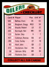 1977 Topps #211 Houston Oilers CL Ex-Mint