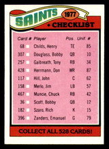 1977 Topps #217 New Orleans Saints CL Near Mint+