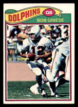 1977 Topps #515 Bob Griese Excellent+  ID: 301632