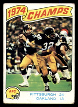 1975 Topps #526 1974 AFC Championship Very Good