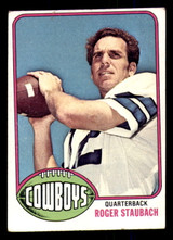 1976 Topps #395 Roger Staubach Miscut