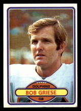 1980 Topps #35 Bob Griese Excellent