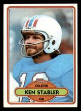 1980 Topps #65 Ken Stabler Very Good
