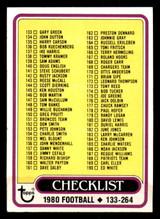 1980 Topps #246 Checklist 133-264 Very Good