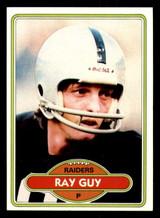 1980 Topps #310 Ray Guy Near Mint+