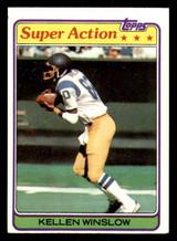 1981 Topps #524 Kellen Winslow Excellent+