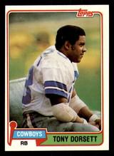 1981 Topps #500 Tony Dorsett Near Mint  ID: 301881