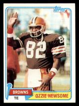 1981 Topps #435 Ozzie Newsome Ex-Mint