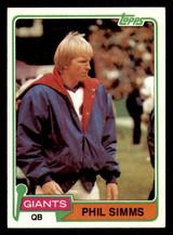 1981 Topps #55 Phil Simms Ex-Mint