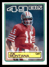 1983 Topps #169 Joe Montana DP Very Good