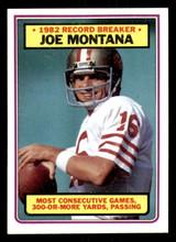 1983 Topps #4 Joe Montana RB Near Mint