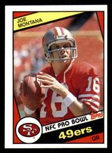 1984 Topps #358 Joe Montana Near Mint  ID: 301948