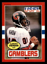 1985 Topps USFL #47 Clarence Verdin Near Mint RC Rookie