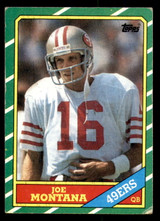 1986 Topps #156 Joe Montana Very Good  ID: 302018