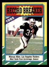 1986 Topps #1 Marcus Allen RB Ex-Mint