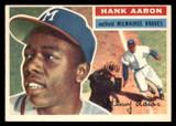 1956 Topps #31B Hank Aaron White Backs Ex-Mint