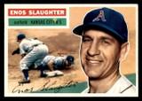 1956 Topps #109B Enos Slaughter White Backs Excellent