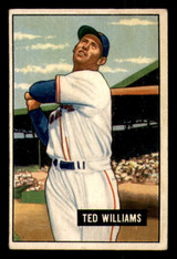 1951 Bowman #165 Ted Williams UER Excellent+