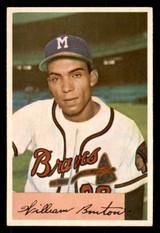 1954 Bowman #224 Bill Bruton UER Excellent+