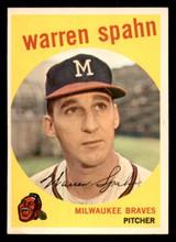 1959 Topps #40 Warren Spahn ERR Near Mint