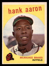 1959 Topps #380 Hank Aaron Ex-Mint  ID: 302086