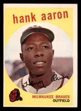 1959 Topps #380 Hank Aaron Excellent+  ID: 302087
