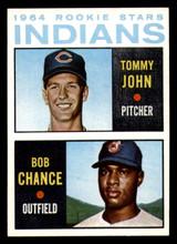 1964 Topps #146 Tommy John/Bob Chance Indians Rookies Near Mint RC Rookie  ID: 302150