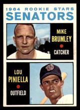 1964 Topps #167 Mike Brumley/Lou Piniella Senators Rookies Ex-Mint RC Rookie  ID: 302152