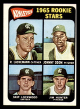 1965 Topps #526 Rene Lachemann/Johnny Odom/Skip Lockwood/Jim Hunter Athletics Rookies UER Ex-Mint RC Rookie SP