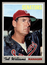 1970 Topps #211 Ted Williams Manager, UER Excellent+  ID: 302174