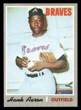 1970 Topps #500 Hank Aaron Ex-Mint  ID: 302180
