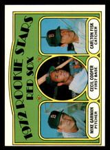 1972 Topps #79 Mike Garman/Cecil Cooper/Carlton Fisk Red Sox Rookies Near Mint+ RC Rookie  ID: 302193