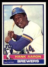 1976 Topps #550 Hank Aaron Ex-Mint  ID: 302220