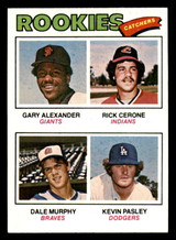 1977 Topps #476 Gary Alexander/Rick Cerone/Dale Murphy/Kevin Pasley Rookie Catchers Near Mint+ RC Rookie  ID: 302224