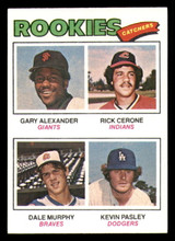 1977 Topps #476 Gary Alexander/Rick Cerone/Dale Murphy/Kevin Pasley Rookie Catchers Near Mint+ RC Rookie  ID: 302226