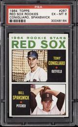 1964 Topps #287 Tony Conigliaro/Bill Spanswick Red Sox Rookies PSA 6 EX-Mint RC Rookie