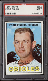 1967 Topps #434 Eddie Fisher DP PSA 7 Near Mint