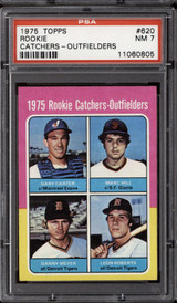 1975 Topps #620 Gary Carter/Marc Hill/Dan Meyer/Leon Roberts Rookie Catchers Outfielders PSA 7 Near Mint RC Rookie