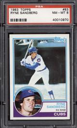 1983 Topps #83 Ryne Sandberg PSA 8 NM-Mint RC Rookie  ID: 302302
