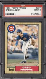 1987 Topps Traded #70 Greg Maddux PSA 9 Mint RC Rookie  ID: 302307