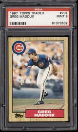 1987 Topps Traded #70 Greg Maddux PSA 9 Mint RC Rookie  ID: 302308