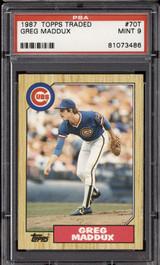 1987 Topps Traded #70 Greg Maddux PSA 9 Mint RC Rookie  ID: 302310